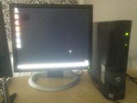 DELL DESKTOP PC AND DELL MONITOR
