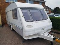 Sterling Europa 500l 5 berth caravan with porch awning 1998