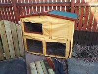 Rabbit hutch and large run