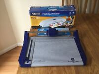 FELLOWS A4 HOME LAMINATOR - BOXED AND AVERY PRECISION CUTTER AS NEW