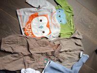 Boys 0-3 baby clothes bundle