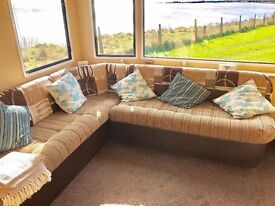 😀😀Stunning SEA VIEW pitch available with this static caravan at Sandy Bay, direct beach access😀😀