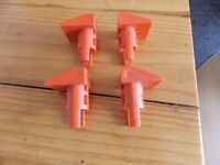 Black and decker workmate plugs set of 4