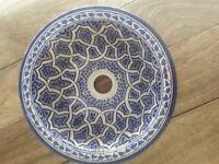 Moroccan Wash Basin Sink Ceramic Handmade Hand Painted 30 cm