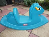 childs plastic rocking horse