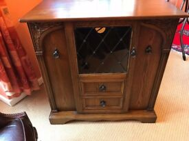 Oak HiFi Cabinet with multiple CD Storage