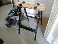 Fold Up Work Bench With Vice Action Weymouth