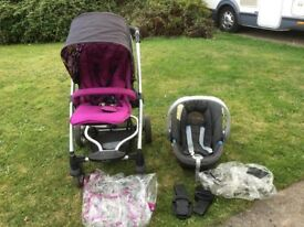 car seat with push chair