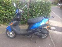 2010 4-Stroke 50cc Moped Motorbike Scooter in blue