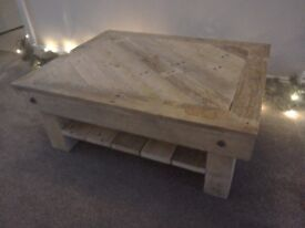 Pallet timber coffee table shabby chic.