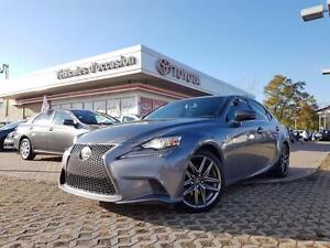 2014 Lexus IS 250 F-SPORT SERIES 2 NAVIGATION, HEATED STEERING W