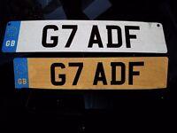 PRIVATE PLATE ' G7 ADF'