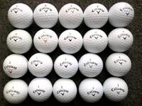 20 Callaway golf balls in excellent condition