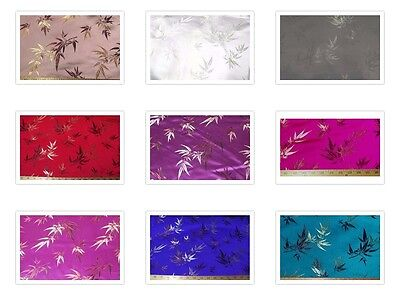 FAUX SILK POLYESTER CHINESE ASIAN BAMBOO BROCADE FABRIC $BY THE YARD