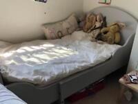 Toddler Bed in taupe / grey Ikea