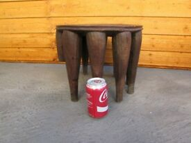 Rare and unusual Vintage wooden milking stool art and deco table need restoration DELIVERY AVAILABLE