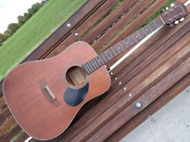 Freshman FA150MAH Mahogany Dreadnought Acoustic Guitar + CNB Deluxe Case + Stand