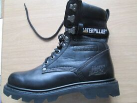 NEW CATTERPILLAR LEATHER BOOTS,, WATER RESISTANT. SIZE 6