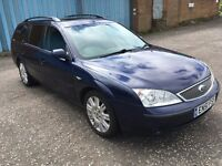 Ford MONDEO GHIA 2.5 estate,MOT-December 2017,only 82,000 miles,service history,vectra,passat,focus