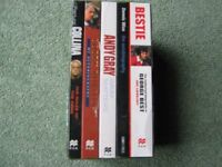A GAME OF 2HALVES-5 AUTOBIOGRAPHIES GEORGE BEST,DENNIS WISE,ANDY GRAY,BOBBY ROBSON,PIERLUIGI COLLINA