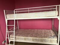 Gracie metal bunk bed – white - from Next