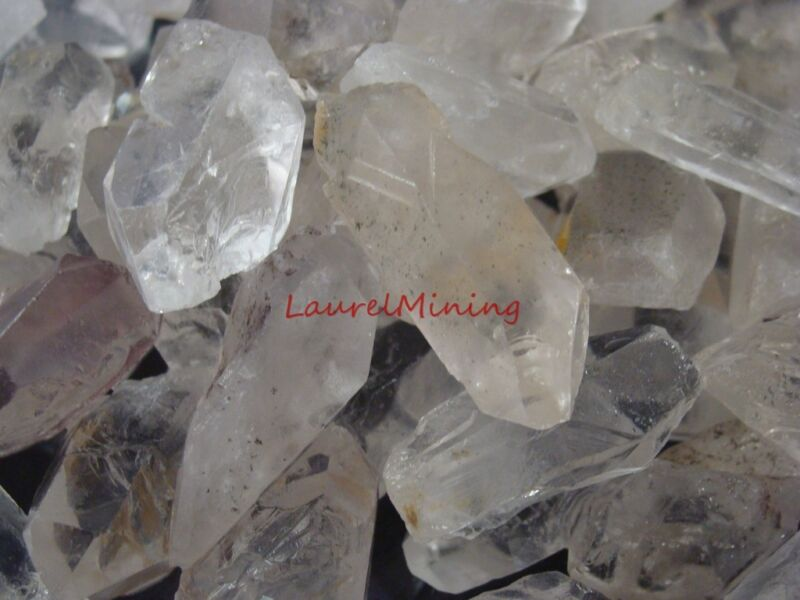 Natural QUARTZ POINTS Rough - 3000 CARAT Lots - Rock Crystals, Clear Quartz NICE
