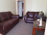3 and 2 seater genuine leather sofas