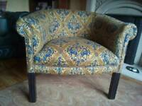 Desirable tub chair with choice of silver or antique studs.