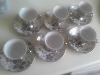 full Coffee set of 6 Cups & Saucers - amazing price and condition!