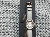 Ladies Pocket Grey Strap Watch
