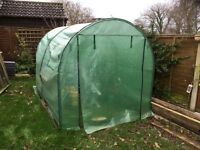 Gardman Green Plastic polytunnel 3m x 2m x 2m with brand new spare cover