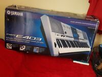 Yamaha Keyboard Synthesizer E403 Boxed with Stand