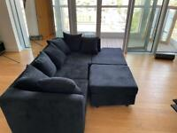 New Sofa in Black, Grey and Cream Jumbo Cord