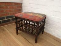 Solid wood piano/footstool