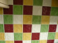 Job lot of various wall tiles, suitable for small projects.
