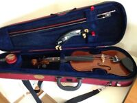 Violin, Case and Stand