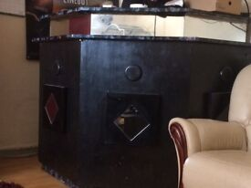 Bar/drinks cab painted black with mirrors very heavy