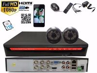 HD CCTV DVR 4CH HDMI 2 In/ Outdoor 1.3Mp IR Video Camera Security 1TB System Kit