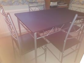 Dining Table with 4 chairs - hardly used, as new condition