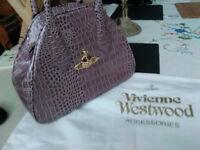 Vivienne Westwood Lilac Chancery Handbag