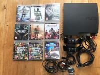 PlayStation 3 Console 120GB plus Games, 1 x Controller, Charging Dock, CALL OF DUTY, GTA