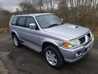 2005 Mitsubishi Shogun Sport Warrior **2.5 DIESEL**4 WHEEL DRIVE**LEATHER**TOWBAR**YEARS MOT