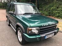 DISCOVERY 2.5 TD5 ADVENTURER 7 SEATER 03 REG IN GREEN ONLY 1 OWNER FROM NEW AND FULL SERVICE HISTORY
