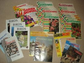 Assorted Magazines x 35 – Gardening / Country / Birds dated 1982 - 1992