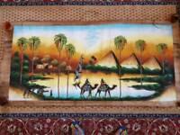 Egyptian hand painted art