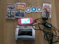 Psp console with games