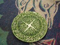 Majolica cabbage leaf design saucer by Bordallo Pinheiro