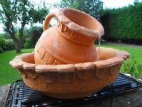 Freestanding Roman-Grecian Style Wine Jug & Bowl Garden or Patio TRICKLING WATER FEATURE