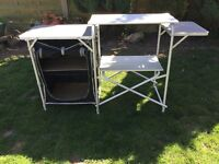 Camping Kitchen Cooking Stand With Cupboard
