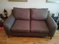 2 seater brown sofa from Next